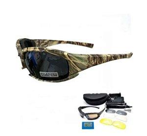Óculos Militar Original Daisy X7 Uv400 Airsoft Camu