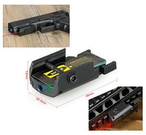 Micro Laser Picatinny Pistola Rifle Mira Vermelho