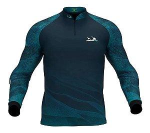 Camiseta com Proteção Uv 30+ Tucunaré Azul PresaViva - Pesca / Náutica