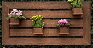 Floreira Horizontal com 4 cachepots