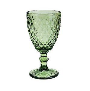 Taça Para Água Bico De Abacaxi De Vidro Verde