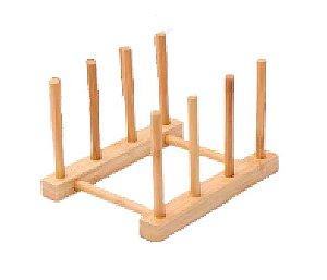 Porta Pratos Bambu -  4 Divisórias