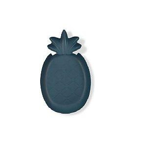 Prato de Abacaxi de Plastico Azul