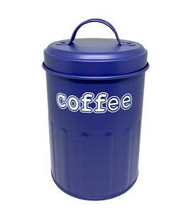 Porta Mantimentos Coffee Redondo Azul