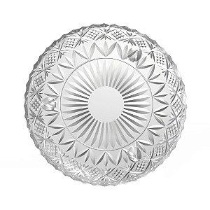 Prato de Cristal com Pé Dublin Transparente 18cm