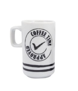 Caneca Slim 100ml - Coffe Time Approved