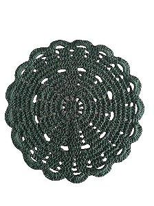Lugar Americano de Croche Verde 33cm