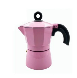 Cafeteira Italiana Metal Rosa Wincy 150ml