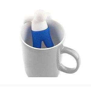 Infusor de Chá Bonequinho Azul - Silicone