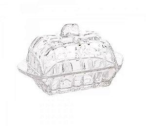 Manteigueira de Cristal Deli 16,9x8x10cm Lyor