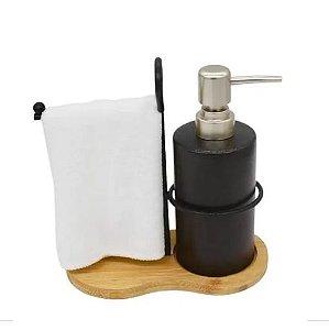 Porta Sabonete Liquido Suporte para Toalha Mãos