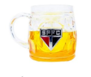 Caneca Cerveja Base Grossa 400ml - São Paulo SPFC