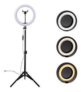 Ring Light Tripé Iluminador Led 10 Polegadas 26cm