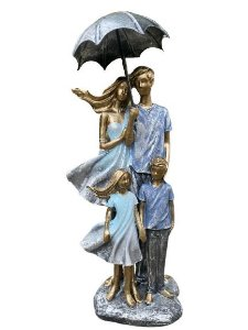 Família Decorativa em Resina