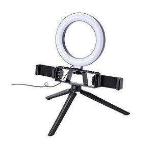 Ring Fill Light 16cm 6 polegadas K316 Com dois Suportes pra Celular