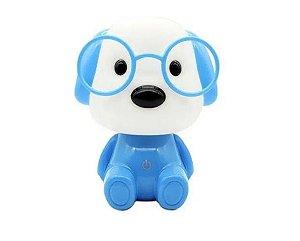 Luminaria Cachorro Azul 3 Níveis De Brilho Cabo Usb