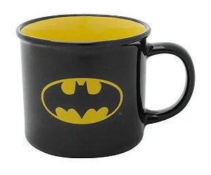 Caneca Batman Logo Preto e Amarelo Porcelana