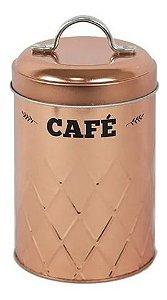 Lata Metalizado Cobre Rose Gold Para Café