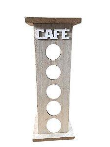 Porta Capsulas de Café Nespresso De Madeira