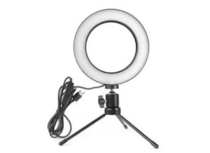 Ring Light 16cm 6 Polegadas com tripé De Mesa