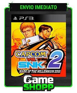 Capcom Vs. Snk 2 Mark Of The Millennium 2001 - Ps3 - Midia Digital