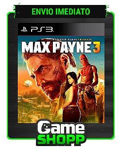 Max Payne 3 - Ps3 - Midia Digital