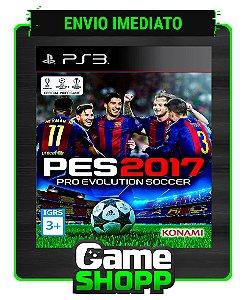 Pes 2017 - Pro Evolution Soccer 17 - Ps3 - Midia Digital