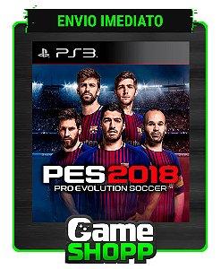 Pes 2018 - Pro Evolution Soccer 18 - Ps3 - Midia Digital