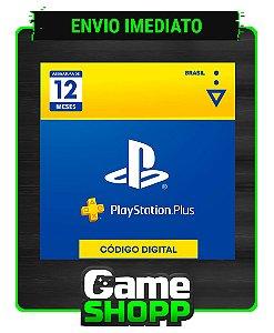 Playstation - Cartão Digital PS Plus 12 meses - Brasil