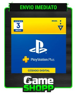 Playstation - Cartão Digital PS Plus 3 meses - Brasil