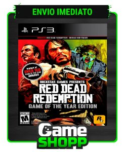 Red Dead Redemption E Undead Nightmare Collection - Ps3 - Midia Digital