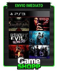 Resident Evil 1, 2, 3, 4, 5 e 6 - Combo 6x1 - Ps3 - Midia Digital