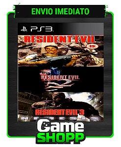 Resident Evil 1 2 E 3 - Combo 3x1 - Ps3 - Midia Digital