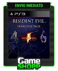 Resident Evil 4,5 E 6 - Franchise Pack - Ps3 - Midia Digital