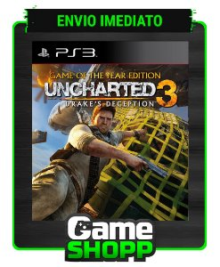 Uncharted 3 Drakes Deception Game Of The Year Edition - Ps3 - Midia Digital