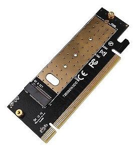 Adaptador Ssd M.2 M2 Nvme P/ Pci Express 16x Com Dissipador