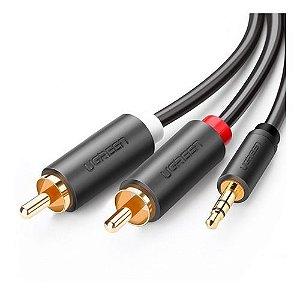 Ugreen Cabo Audio Pro Auxiliar P2 3.5mm P/ 2 Rca Macho 1.5m