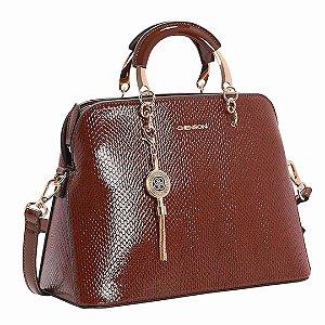 Bolsa Chenson Lagarto Verniz de Mão 3482902