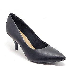 Sapato Hellen Suzan Bico Fino Salto 7 Napa Preto