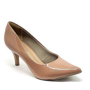 Sapato Hellen Suzan Bico Fino Salto 7 Verniz Pelê