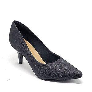 Sapato Hellen Suzan Bico Fino Salto 7 Gliter Preto