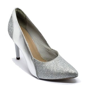 Sapato Hellen Suzan Bico Fino Gliter/ Ipanema Prata Salto 9