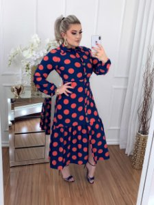 Vestido Diva Longo Poá