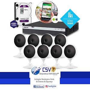 DVR Intelbras 3108 com HD1Tera WDPurple + 8 Câmeras Intelbras IM3 WiFi FullHD + Instalação