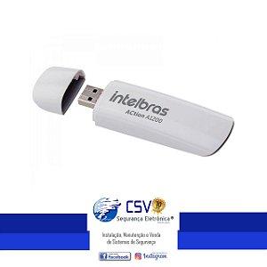 Adaptador USB Intelbras Wireless ACtion AC1200 Dual Band.