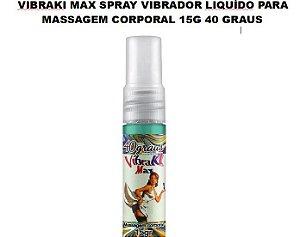 Vibraki Max Spray Vibrador Liquído Para Massagem Corporal 40 Graus