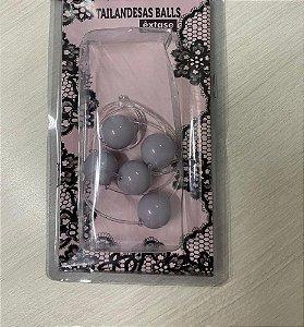 Bolinha Tailandesa Em Acrílico P (15 mm) - Cinza