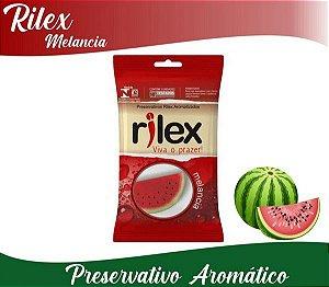 Preservativo Masculino Aroma Melancia  Com 3 Unid Tm 52Mm Rilex