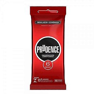 Preservativo Tradicional Lubrificado Com 6 Unid. Prudence Tm 52Mm