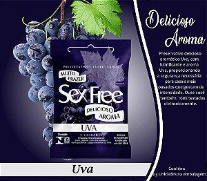 Preservativo Masculino Aroma Uva Com 3 Unid. Sex Free